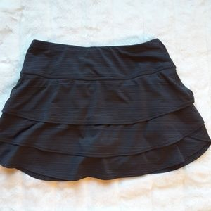 Athleta Black Grey Athletic Skirt or Skort
